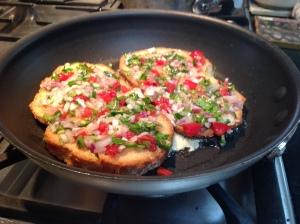 french toast and goan masala fish 013