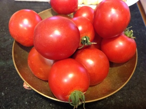 Bright red tomatoes