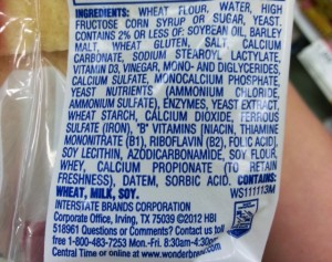 Wonder bread ingredients from http://theysmell.com