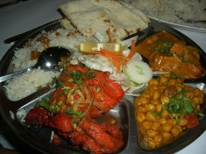 Indian food image from Wikimedia Commons