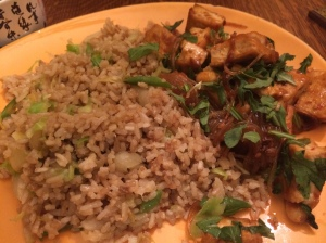 Pomo tofu with fried rice