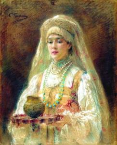 A goblet of mead, Konstantin Makovsky