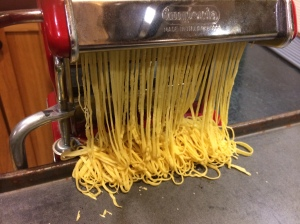 Curtain of linguini