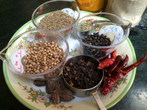Whole spices for pav bhaji masala