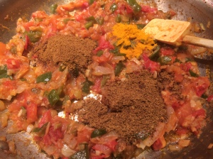 Dry spices go in