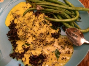 Kadhi over black rice