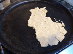 Flatbread that WILL NOT hold together. Fail.