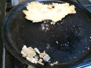 Falls apart more while on griddle.