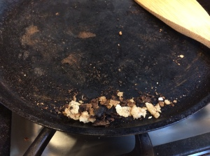 Brunt crumbs. Fail