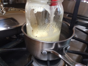 Improvised double-boiler