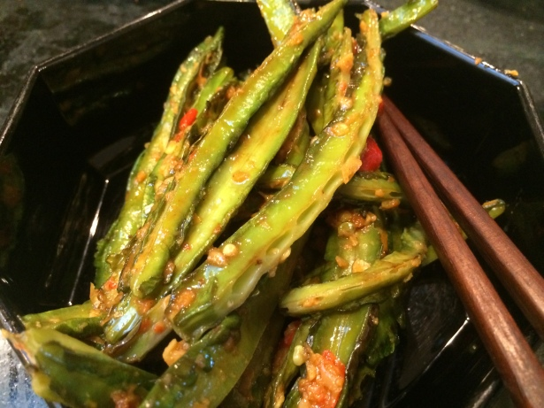 Winged beans sauteed with red-chili garlic paste