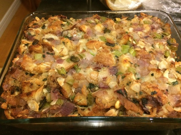 Stuffing baked outside the turkey