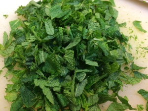 Minced mint