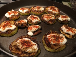 Topped with yogurt and spices