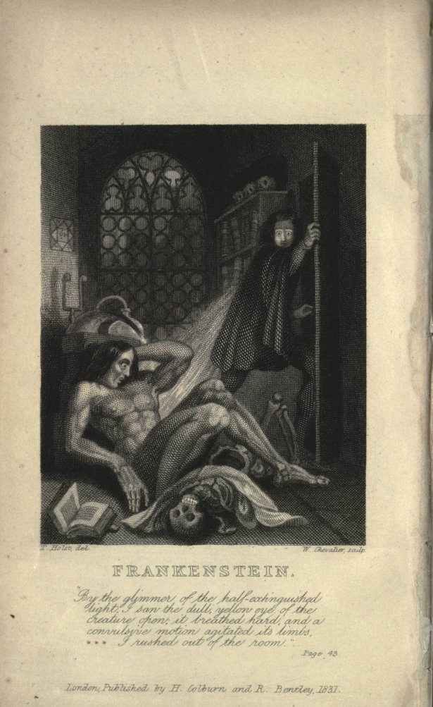 Frankenstein 1831 inside cover art (source: https://archive.org/details/ghostseer01schiuoft)
